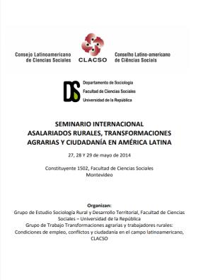 Seminário Internacional Transformaciones Agrárias y Trabajo Rurales