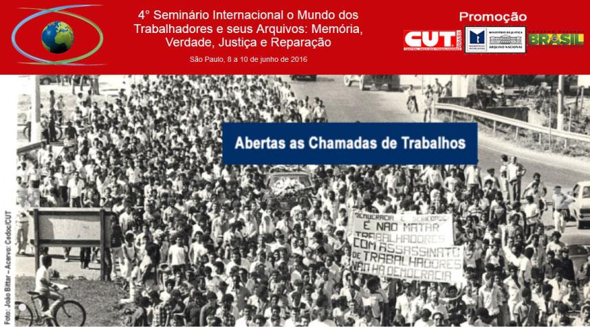 Seminário Internacional o Mundo dos Trabalhadores